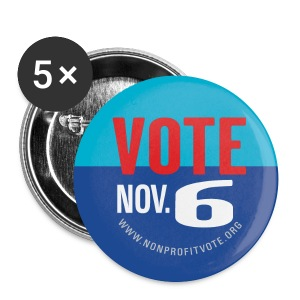 Official Vote November 6 Button - Large Buttons