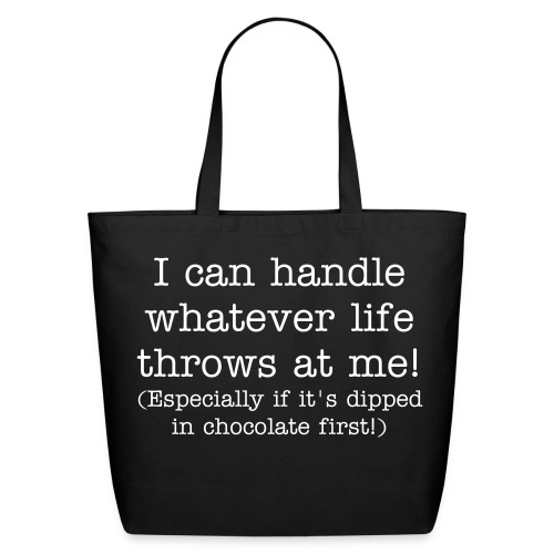Dipped in Chocolate eco-friendly tote - Eco-Friendly Cotton Tote