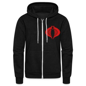 BLACK COBRA Zip Hoodies/Jackets - Unisex Fleece Zip Hoodie by American Apparel