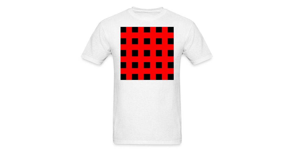 Rawr Clothing Emo Red Black Stripes Mens T Shirt