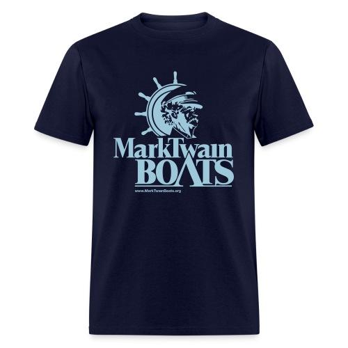 MTB Vintage - Navy/Aqua - Men's T-Shirt