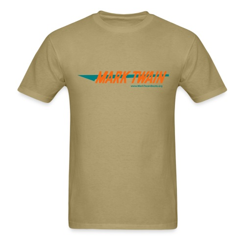 MTB Retro - Khaki/Teal/Orange - Men's T-Shirt