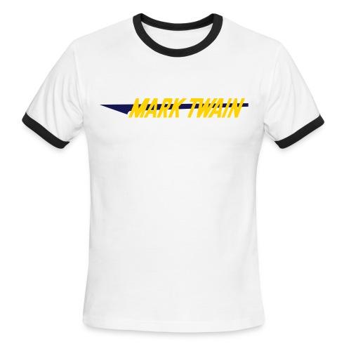 Retro Ringer - Wht/Navy/Yellow - Men's Ringer T-Shirt