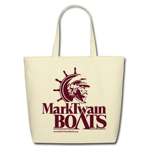 MTB Tote Bag - Khaki/Maroon - Eco-Friendly Cotton Tote
