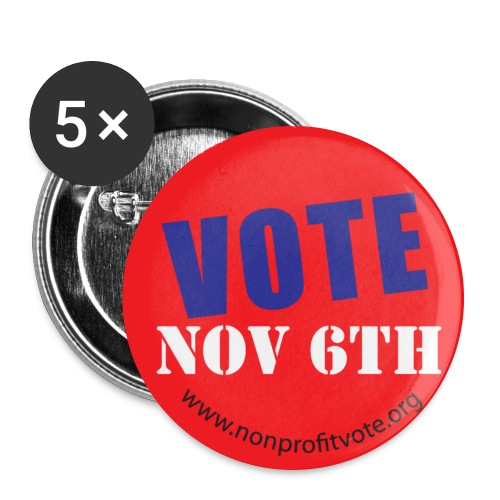 Vote November 6 Button - Red - Large Buttons