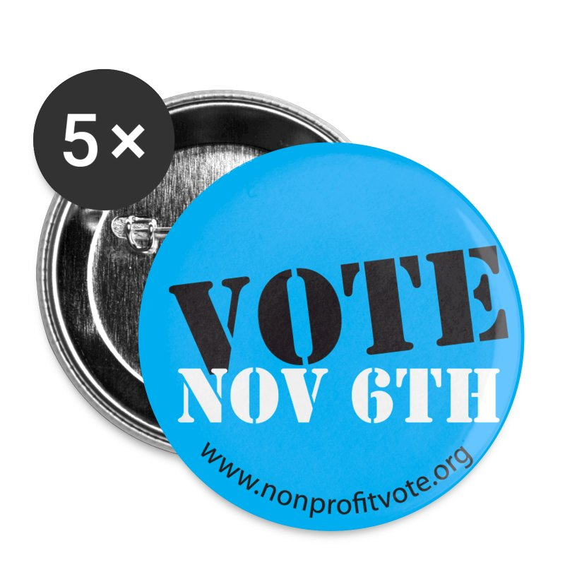 Vote November 6 Button - Blue - Large Buttons