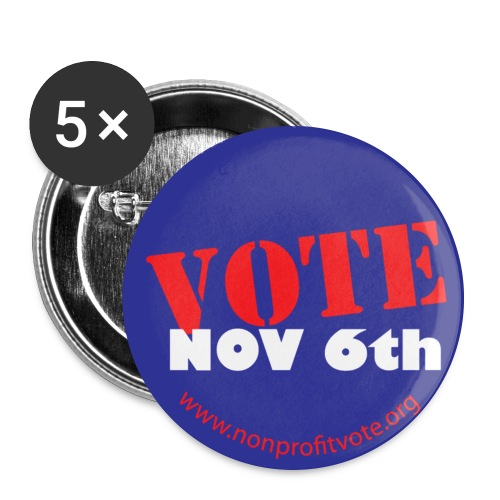 Vote November 6 Button - Purple - Large Buttons