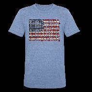 T-Shirts ~ Unisex Tri-Blend T-Shirt ~ Detroit, USA