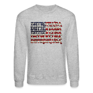 Long Sleeve Shirts ~ Crewneck Sweatshirt ~ Detroit, USA