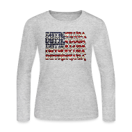 Long Sleeve Shirts ~ Women's Long Sleeve Jersey T-Shirt ~ Detroit, USA