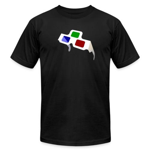 Big 4D Glasses Logo - Men's Fine Jersey T-Shirt