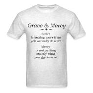 T-Shirts ~ Men's T-Shirt ~ Grace & Mercy blk letters - Men