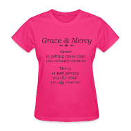 T-Shirts ~ Women's T-Shirt ~ Grace & Mercy blk letters- Women
