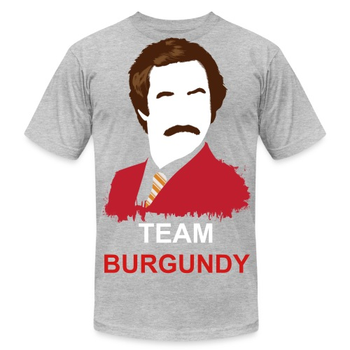TEAM BURGUNDY - Men's Fine Jersey T-Shirt