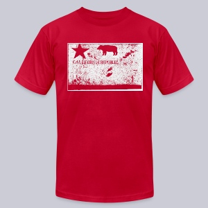 Original California Flag - Men's T-Shirt by American Apparel