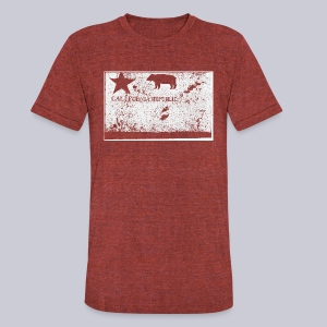 Original California Flag - Unisex Tri-Blend T-Shirt by American Apparel