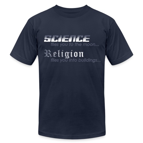 Science vs. Religion - Men's Fine Jersey T-Shirt