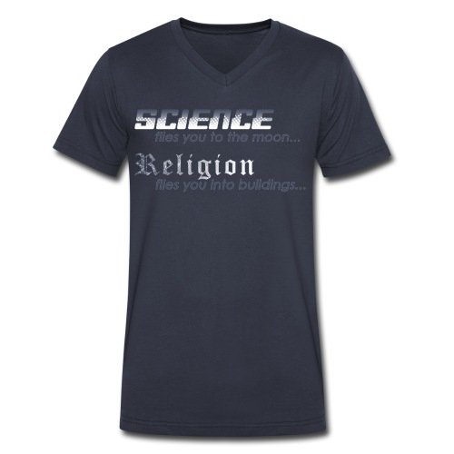 Science vs. Religion - Men's V-Neck T-Shirt by Canvas