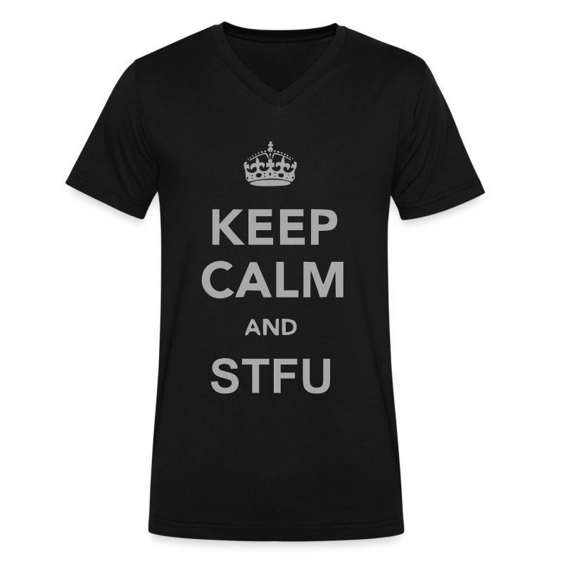 Keep Calm and STFU - Men's V-Neck T-Shirt by Canvas