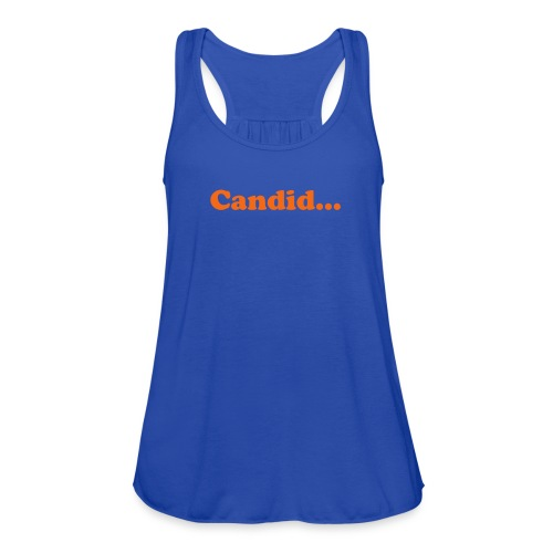 candid flow - Women's Flowy Tank Top by Bella