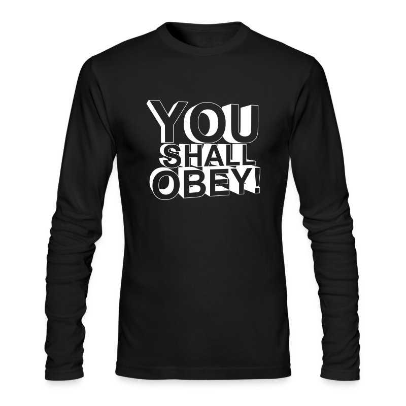 Men's Long Sleeve T-Shirt by Next Level - obeyalliance,obey agony,obey,Obey Clan
