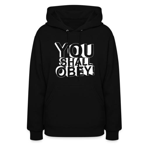 Women's Hoodie - obeyalliance,obey agony,obey,Obey Clan