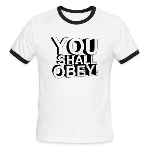 Men's Ringer T-Shirt - obeyalliance,obey agony,obey,Obey Clan