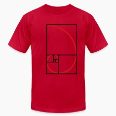 fibonacci curve, golden section T-Shirts