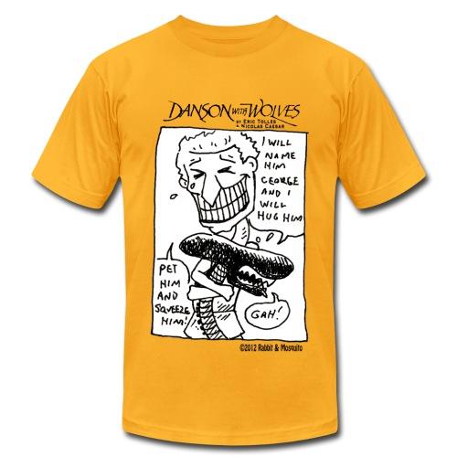 Danson with Alien - Men's Fine Jersey T-Shirt