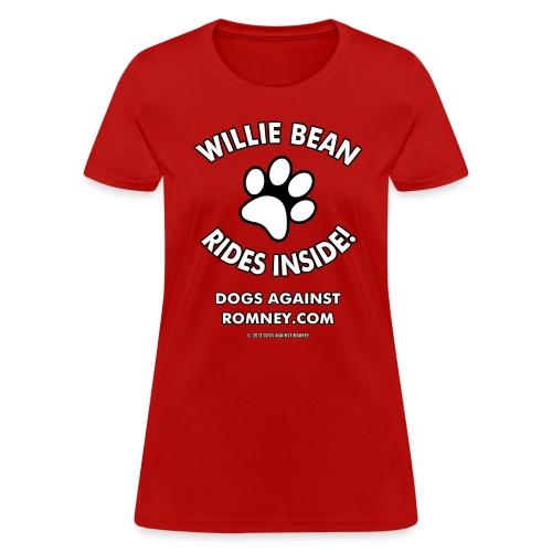 Official Dogs Against Romney Willie Bean Women's Tee - Women's T-Shirt