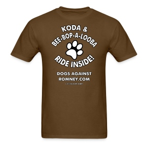 Official Dogs Against Romney Koda & Be-Bop-a-Looba Men's Tee - Men's T-Shirt