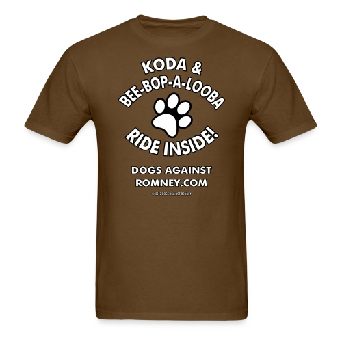Official Dogs Against Romney Koda & Be-Bop-a-Looba Men's Tee - Men's T-Shirt