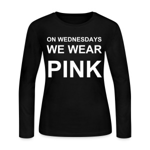 On Wednesdays We Wear Pink Mean Girls Long Sleeved T  - Women's Long Sleeve Jersey T-Shirt