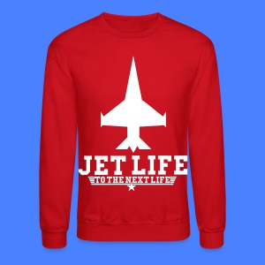 Jet Life To The Next Life Long Sleeve Shirts - stayflyclothing.com - Crewneck Sweatshirt