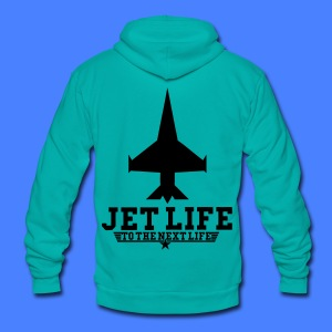 Jet Life To The Next Life Zip Hoodies/Jackets - stayflyclothing.com - Unisex Fleece Zip Hoodie by American Apparel