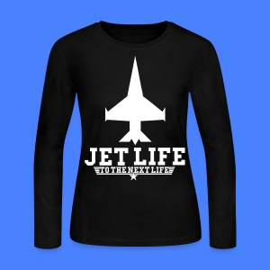 Jet Life To The Next Life Long Sleeve Shirts - stayflyclothing.com - Women's Long Sleeve Jersey T-Shirt