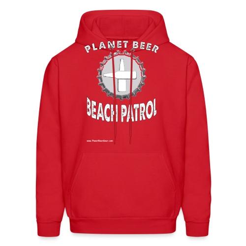 Planet Beer Beach Patrol Men's Hooded Sweatshirt - Men's Hoodie