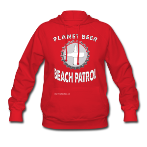 Planet Beer Beach Patrol Women's Hooded Sweatshirt - Women's Hoodie