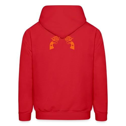 Black TrampL T-Shirt // Red Gun + Logo - Men's Hoodie