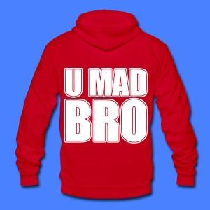 U Mad Bro Zip Hoodies/Jackets - stayflyclothing.com - Unisex Fleece Zip Hoodie by American Apparel