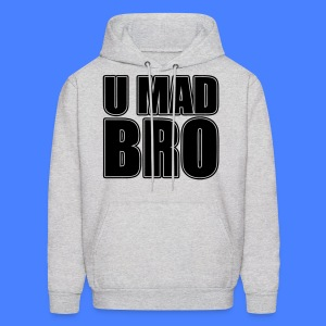 U Mad Bro Hoodies - stayflyclothing.com - Men's Hoodie