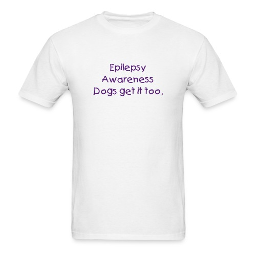 Epilepsy Awareness, human wear.  - Men's T-Shirt