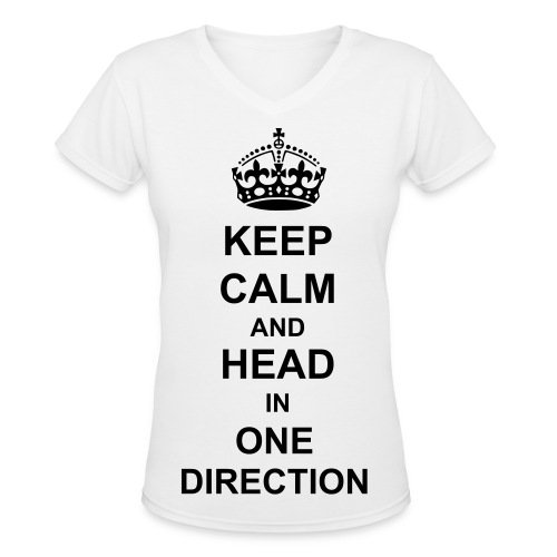 Women's V-Neck T-Shirt - V-neck One Direction shirt.