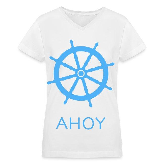 Ahoy V-Neck (Blue)