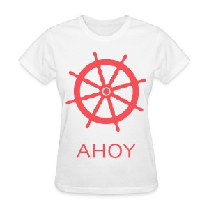Ahoy T-Shirt (Red) - Women's T-Shirt