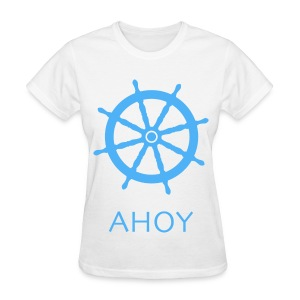 Ahoy T-Shirt (Blue) - Women's T-Shirt