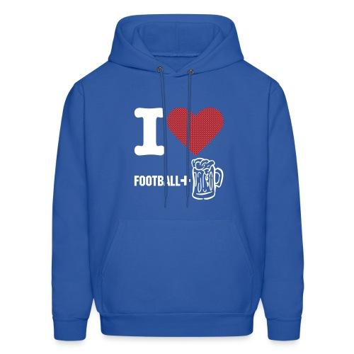 Men's Hooded Football Sweatshirt - Men's Hoodie