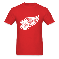 T-Shirts ~ Men's T-Shirt ~ Red Wings Turbo Mens Tee