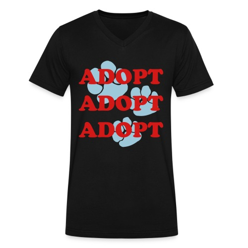 ADOPT - Men's V-Neck T-Shirt by Canvas