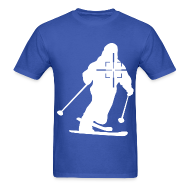 T-Shirts ~ Men's T-Shirt ~ Skier in Crosshairs Mens Tee